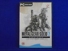*pc METAL GEAR SOLID 2 Substance (No Manual) Tactical Espionage Action DVD-ROM