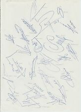 LYON 1995-1996 SEASON RARE ORIGINAL HAND SIGNED A4 SHEET 23 X SIGNATURES