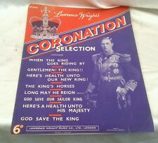 Rare 1937 Original Coronation Selection Sheet Music Lawrence Wright No 2405