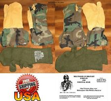 U.S. MILITARY SURPLUS - TRIGGER FINGER MITTENS & LINERS - FIT MED TO LARGE - NEW