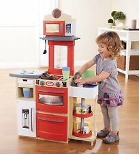 Little Tikes Red Cook N and Store Foldable Play Kitchen Cook Playset NEW NIB