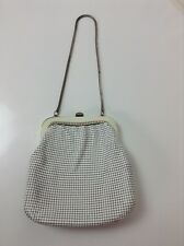 GLOMESH Vintage Purse Evening Bag White Silver