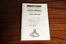 Minuteman UPS PRO500E 6-Outlet Backup/Surge Protection User's Manual
