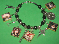 """Z NATION""-   BEADED SLIDER CHARM BRACELET-ZOMBIES"
