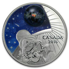 2016 Canada 1 oz Silver $20 The Universe: Glow-in-the-Dark Glass - SKU #94242