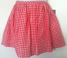Ralph Lauren Girls Skirt Red/White Gingham Pockets Cotton Lined Sz L (12-14) NWT