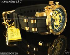 NEW Invicta Mens Pro Diver Scuba 18k Gold Plated Stainless Steel Blue Dial Watch
