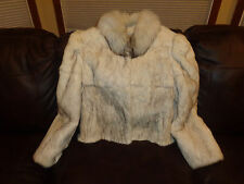 Ladies BLUE FOX BRIGHTHENER Fur Coat Jacket Size M