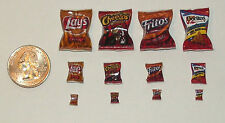 Lot of Dollhouse Miniature Food 4 bags of potato chips! 1:12  H63