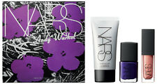 Nars Andy Warhol 3pc Set-Silver Factory Illuminator/Orgasm Lip Gloss/Nail Polish