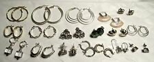 Lot of Signed sterling silver earrings 18 Pairs 39 gr.