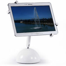 Adjustable Tablet Desk Mount Stand iPad Air Mini Samsung Universal White PAD2003
