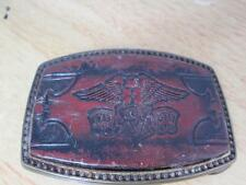 Honda Goldwing Vintage Leather Metal Belt Buckle ALUMALINE 4108 BB-317