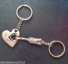 Cupid Arrow key ring Set, I love you - for him and her - valentine, birthday