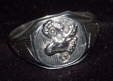 MEN'S RING LOYAL ORDER OF MOOSE LOOM  DIAMOND 8G 10K  GOLD SIZE 12 FABULOUS