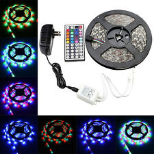5M/16.4Ft 300 LED SMD 3528 RGB Light Strip Xmas Lamp & IR Remote & Power Supply