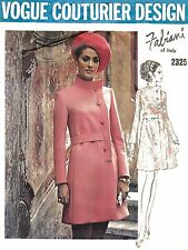 Vintage 1970s Sewing pattern Vogue Couturier Design Fabiani Dress Bust 34""
