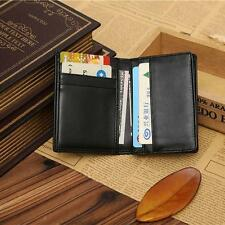 Men's Wallet Bifold ID Credit Card Holder Mini Vintage Purse Money Clip Black ED