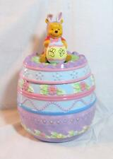 Disney Winnie the POOH Ceramic EASTER EGG COOKIE JAR NIB NEW!