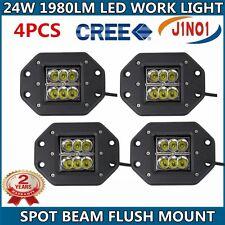 4X24W CREE LED Work Light Bar Off-road Fog LAMP SPOT Beam Flush Mount WING