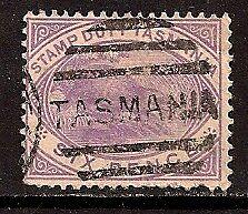 AUSTRALIA TASMANIA 1880 DUCK PLATYPUS SC # AR26 USED