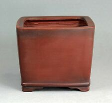 Tokoname Square Bonsai Pot by Bigei, #a2900, 116*116*H95mm