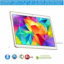 "10.1"" ANDROID 6.0 PHONE TABLET PC 4G LTE GPS OCTA CORE 32GB1920 x 1200 IPS"