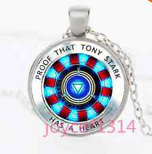 Iron Man Arc Reactor Glass Dome silver necklace for women men Jewelry &XP-1088