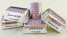 210 PURPLE DAMASK SILVER FOIL Nugget wrappers/labels for Wedding/Party or favors