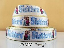 2 METRE ELSA + ANNA SISTERS FROZEN RIBBON SIZE INCH BOWS HEADBANDS BIRTHDAY CAKE