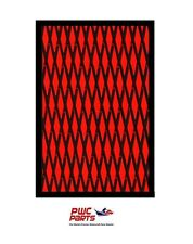 "HYDRO TURF Traction Mat Roll - Cut Diamond - Black/Red 37"" x 58"" - w 3M Adhesive"
