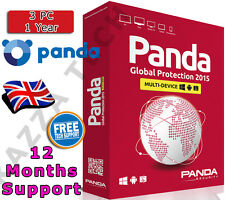 PANDA GLOBAL PROTECTION 2015 3 PC DEVICE USER 1 YEAR! Activation License Key