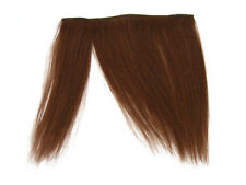 CLIP-IN HUMAN HAIR FRINGE BANGS CYBERLOX #33 DARK AUBURN BROWN UNCUT 8""