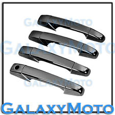 07-13 Chevy Silverado+Tahoe Triple Black Chrome 4 Door Handle no PSG KH Cover