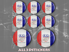 8 x 3D ROUND Resin Domed Flag Cleveland - USA Adhesive Decal Vinyl