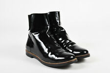 MM6 Maison Martin Margiela Black Patent Leather Ankle Chelsea Boots SZ 37