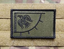Viking Blackbird Sun Flag OD Green Tactical Hook Military Morale Patch US Norway