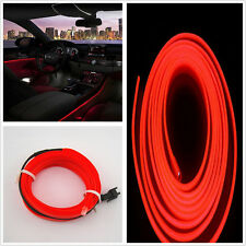 2M Auto Interior LED Wire Red Atmosphere Cold Light Strip Panel&Door For Jeep