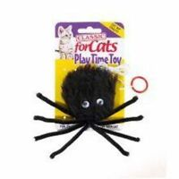 Classic For Cats Black Furry Spider Catnip Cat Toys With Elastic String