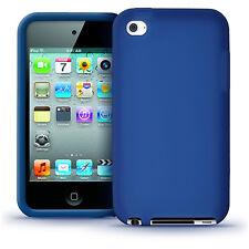 Blau Silikon Tasche Skin für Apple iPod Touch 4G Generation 8/32/64gb Hülle Case