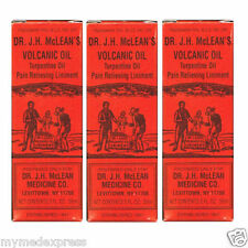 3 PACK Dr. JH McLean's Volcanic Oil Pain Relieving Liniment 2oz 011169144023