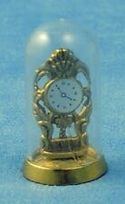 Dolls House Miniature 1/12th Scale Domed Clock - Gold Coloured