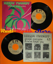 LP 45 7''GEORGE FISCHOFF Georgia porcupine I'll never PROMO 1974 italy*cd mc dvd