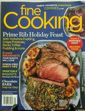 Fine Cooking Dec 2016 Jan 2017 Prime Rib Holiday Feast Recipes FREE SHIPPING sb