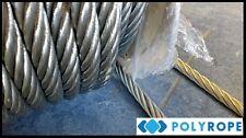 6mm en acier galvanisé câble câble flexible métal treuil sécurité par mètre