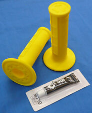 HONDA TRX 450R TRX450R ODI HALF WAFFLE MX GRIPS GLUE YELLOW NEW TWIST THROTTLE