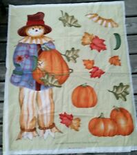 DAISY KINGDOM FALL SCARECROW PUMPKIN DOOR OR WALLHANGING CHEATER PANEL FABRIC