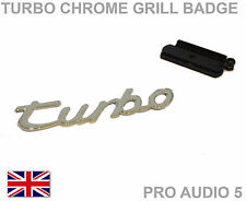 Turbo Grill Badge Chrome -Car Van Front Grill Ford Porsche VW Audi Seat Skoda UK