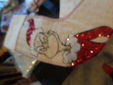 Pottery Barn Teen Grinch Sequin  Christmas stocking  New with tags