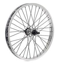 SHADOW CONSPIRACY SYMBOL REAR CASSETTE WHEEL + NDS HUB GUARD RHD BMX BIKE SILVER